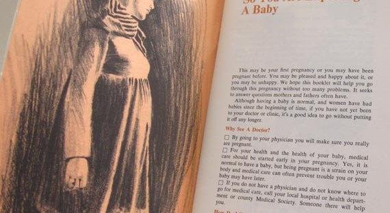 vintage prenatal advice